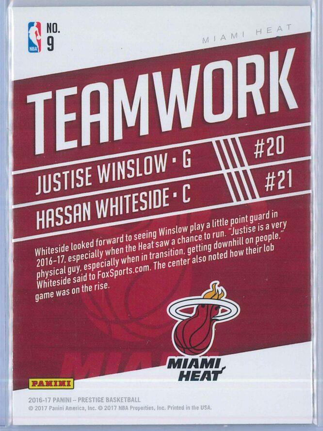 Justise Winslow Hassan Whiteside Panini Prestige Basketball 2016 17 Teamwork 2