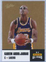 Kareem Abdul Jabbar Panini Absolute Memorabilia 2010-11 Panini All Stars