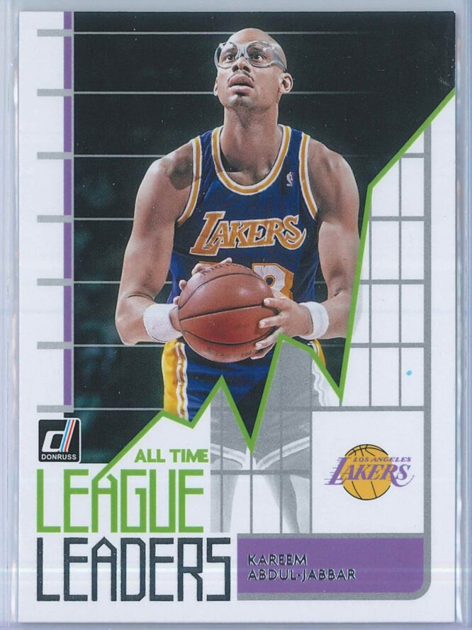 Kareem Abdul Jabbar Panini Donruss Basketball 2020-21 All Time League Leaders