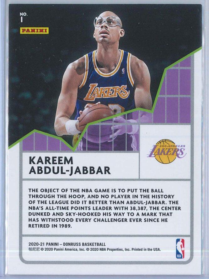 Kareem Abdul Jabbar Panini Donruss Basketball 2020 21 All Time League Leaders 2