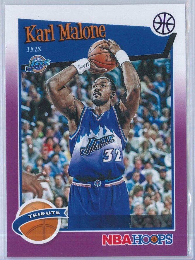 Karl Malone Panini NBA Hoops 2019-20 Tribute Purple