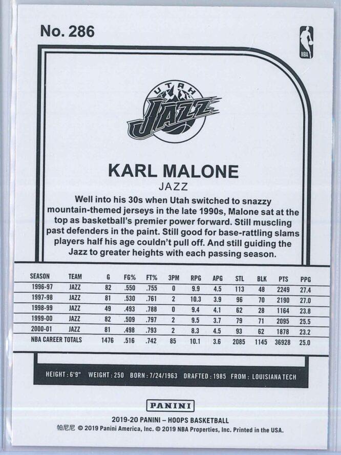 Karl Malone Panini NBA Hoops 2019 20 Tribute Purple 2