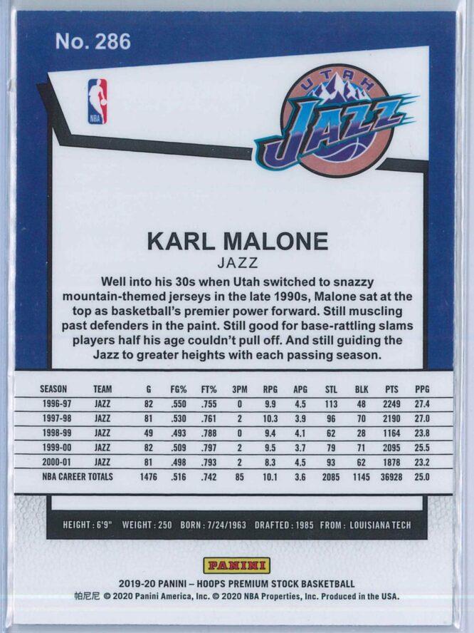 Karl Malone Panini NBA Hoops Premium Stock 2019 20 Tribute 2
