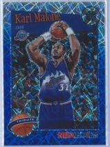 Karl Malone Panini NBA Hoops Premium Stock 2019-20 Tribute Blue Laser Prizm