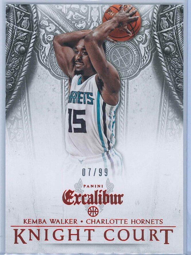 Kemba Walker Panini Excalibur Basketball 2014 15 Knight Court Orange 0799 1