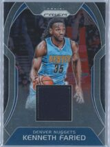 Kenneth Faried Panini Prizm 2017-18 Sensational Swatches