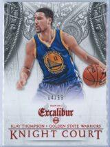Klay Thompson Panini Excalibur Basketball 2014 15 Knight Court Orange 0499 1