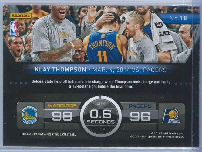 Klay Thompson Panini Prestige Basketball 2014 15 Hardcourt Heroes 2