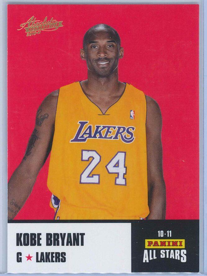 Kobe Bryant Panini Absolute Memorabilia 2010-11 Panini All Stars