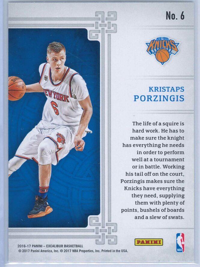 Kristaps Porzingis Panini Excalibur Basketball 2016 17 Squire 2