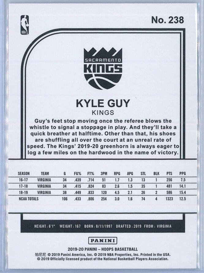 Kyle Guy Panini NBA Hoops Basketball 2019 20 Base Teal Explosion RC 2