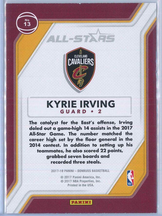 Kyrie Irving Panini Donruss Basketball 2017 18 All Stars 2