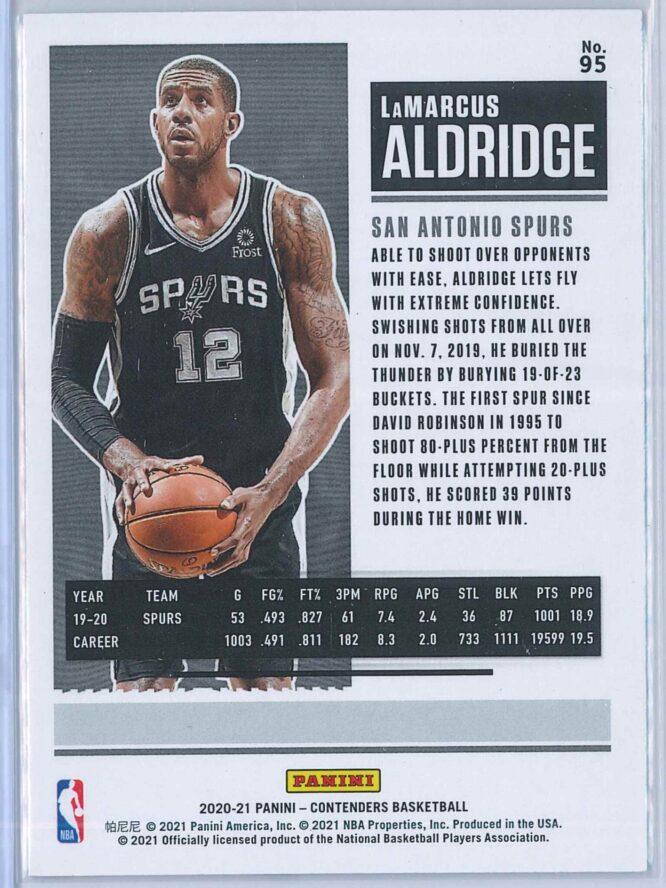 Lamarcus Aldridge Panini Contenders Basketball 2020 21 Base 2