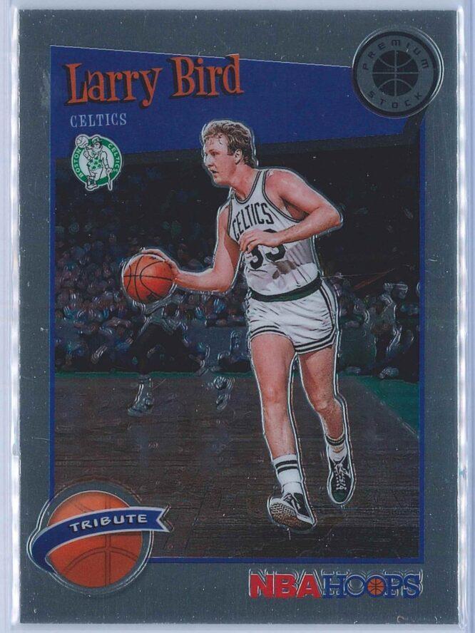 Larry Bird Panini NBA Hoops Premium Stock 2019-20 Tribute