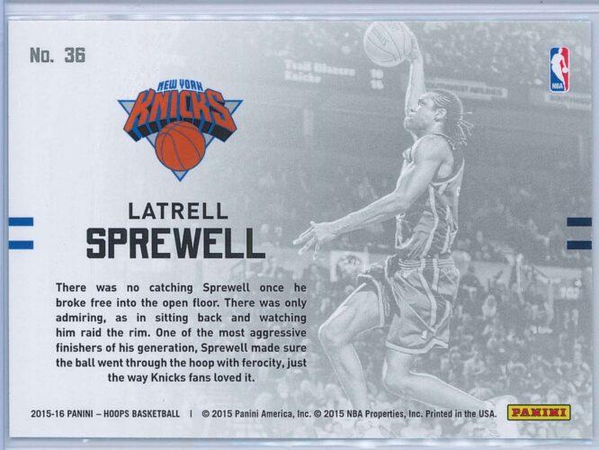 Latrell Sprewell Panini NBA Hoops Basketball 2015 16 Lights Camera Action 2