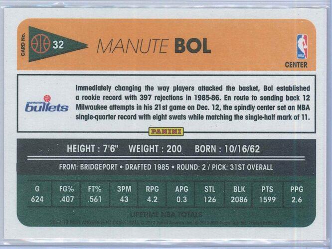 Manute Bol Panini Past And Present Basketball 2012 13 Base 2