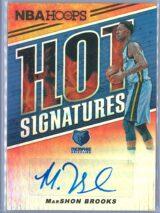 MarShon Brooks Panini NBA Hoops 2018-19 Hot Signatures   Auto