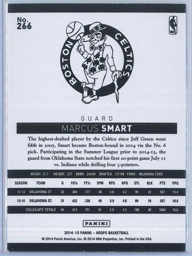 Marcus Smart Panini NBA Hoops Basketball 2014 15 Base Green RC 2