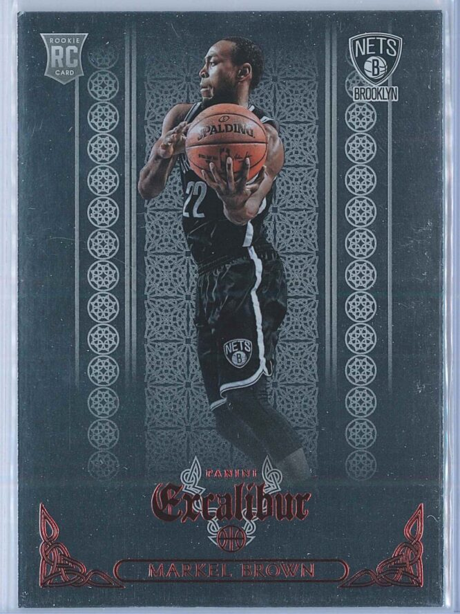 Markel Brown Panini Excalibur Basketball 2014-15 Knights Templar Red Foil  RC