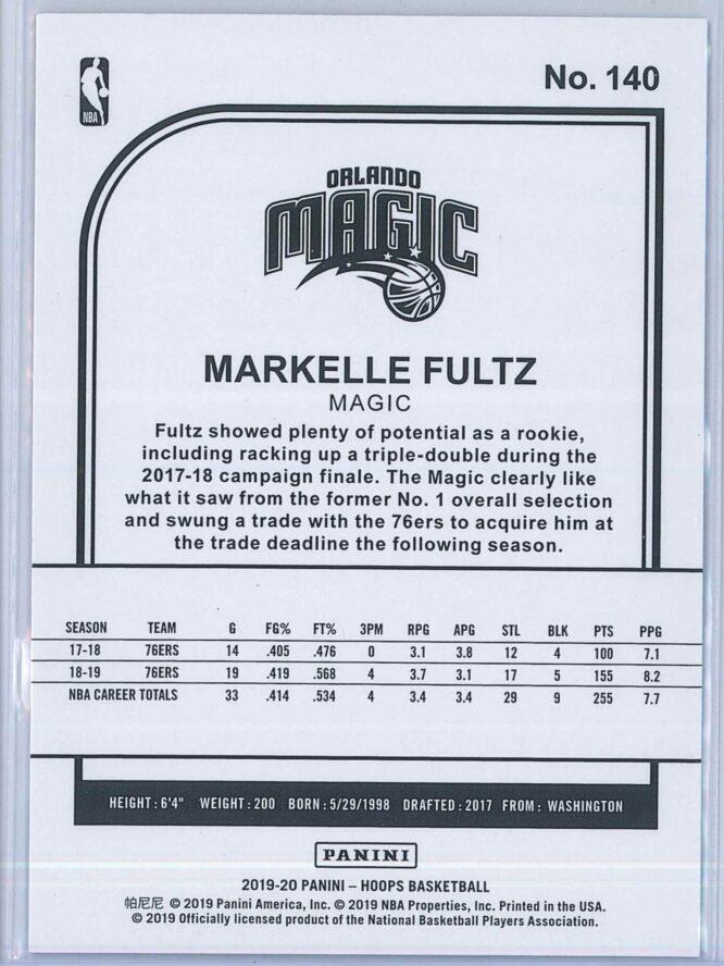 Markelle Fultz Panini NBA Hoops 2019 20 Purple 2