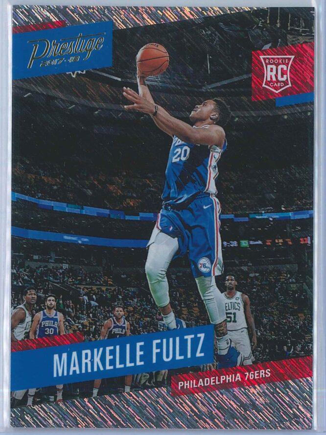 Markelle Fultz Panini Prestige Basketball 2017-18 Base Rain Parallel  RC