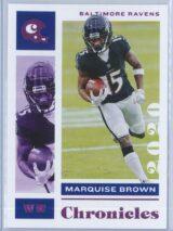 Marquise Brown Panini Chronicles Football 2020 Base Pink