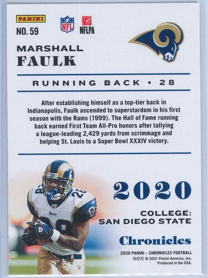 Marshall Faulk Panini Chronicles Football 2020 Base 2