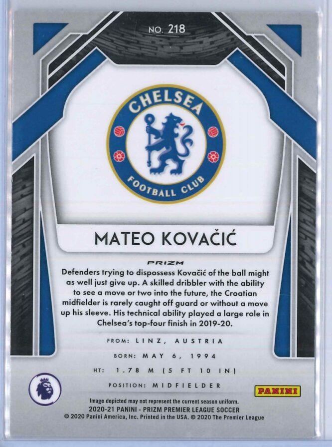 Mateo Kovacic Panini Prizm Premier League Soccer 2020 21 Base Breakaway Prizm 2