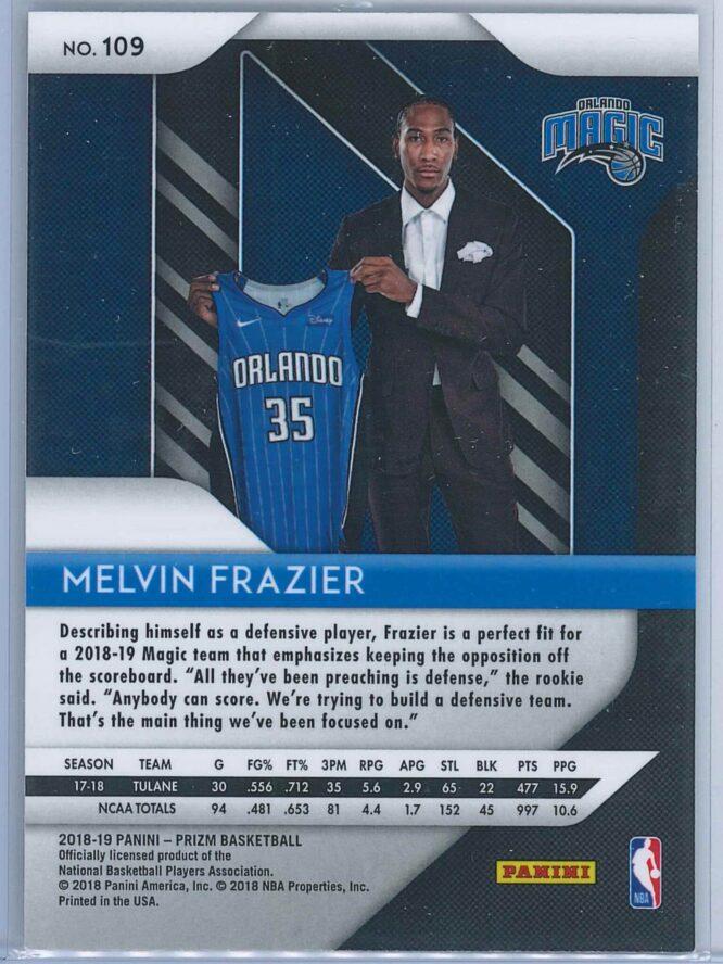 Melvin Frazier Panini Prizm 2018 19 RC 2