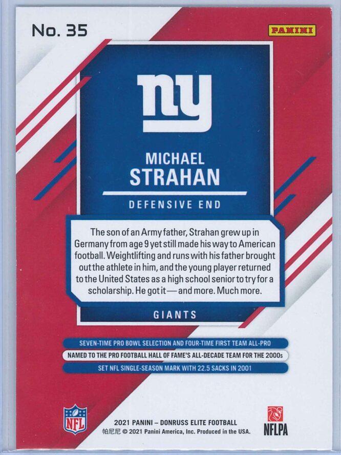 Michael Strahan Panini Donruss Elite Football 2021 Base 2