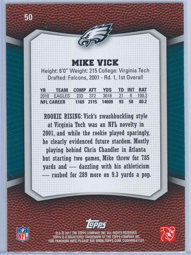 Mike Vick Topps Football 2011 Rising Rookies 2