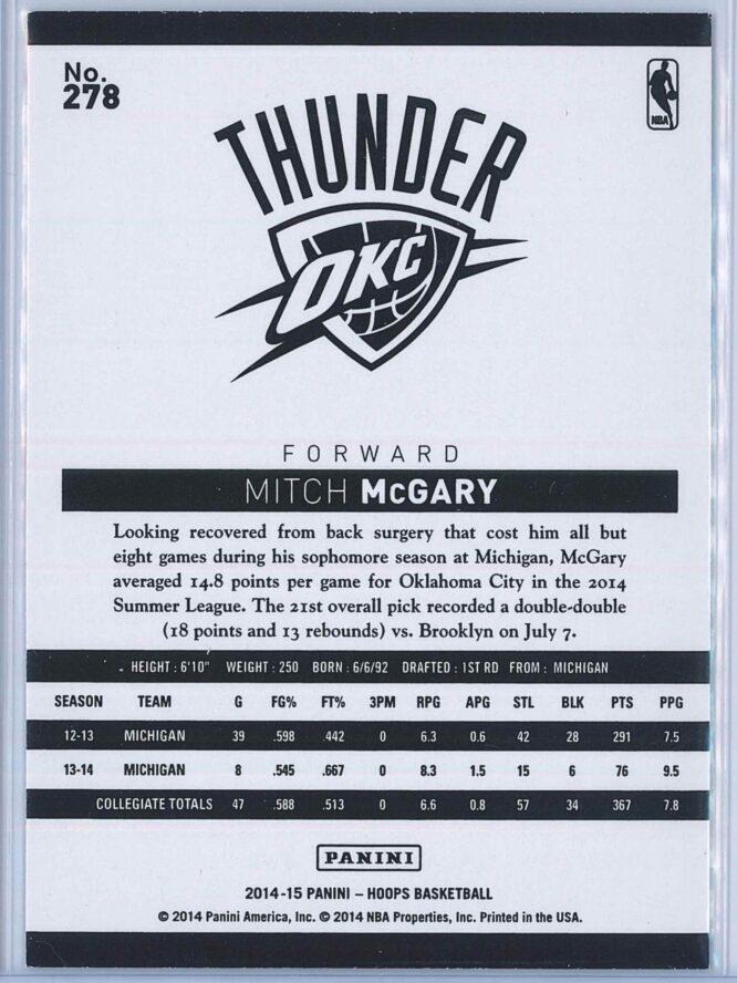 Mitch McGary Panini NBA Hoops Basketball 2014 15 Base Green RC 2
