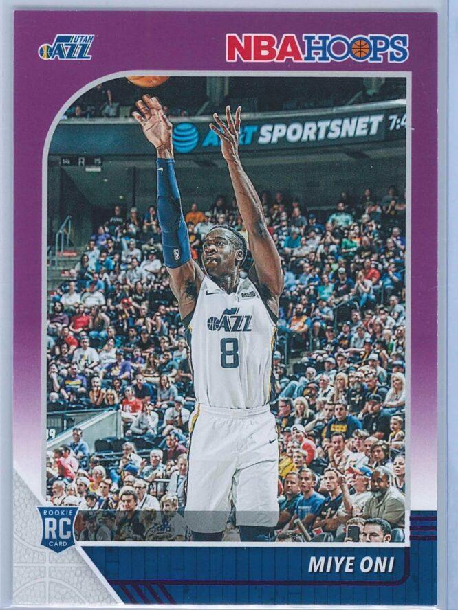 Miye Oni Panini NBA Hoops Basketball 2019-20 Base Purple  RC