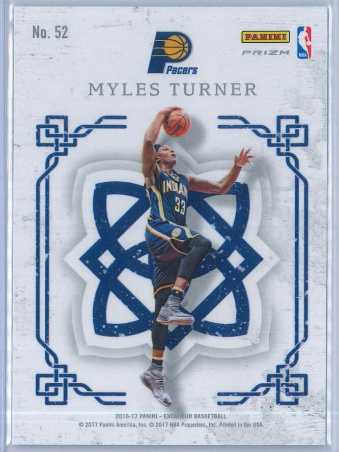 Myles Turner Panini Excalibur Basketball 2016 17 Crusade Camo 2