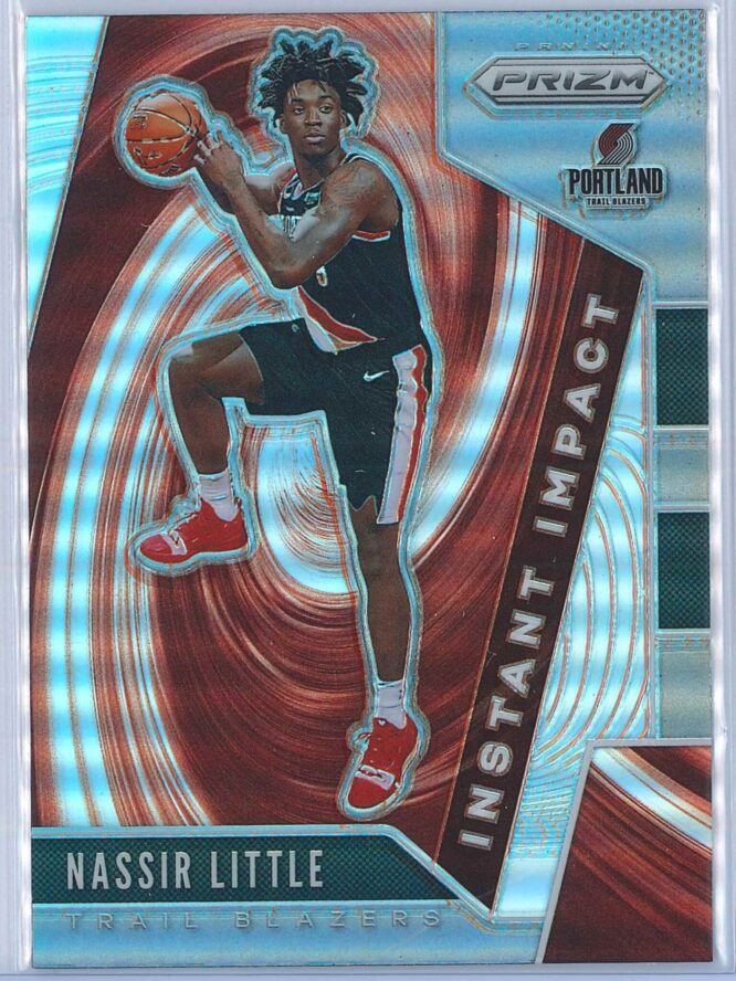 Nassir Little Panini Prizm 2019-20 Instant Impact Silver