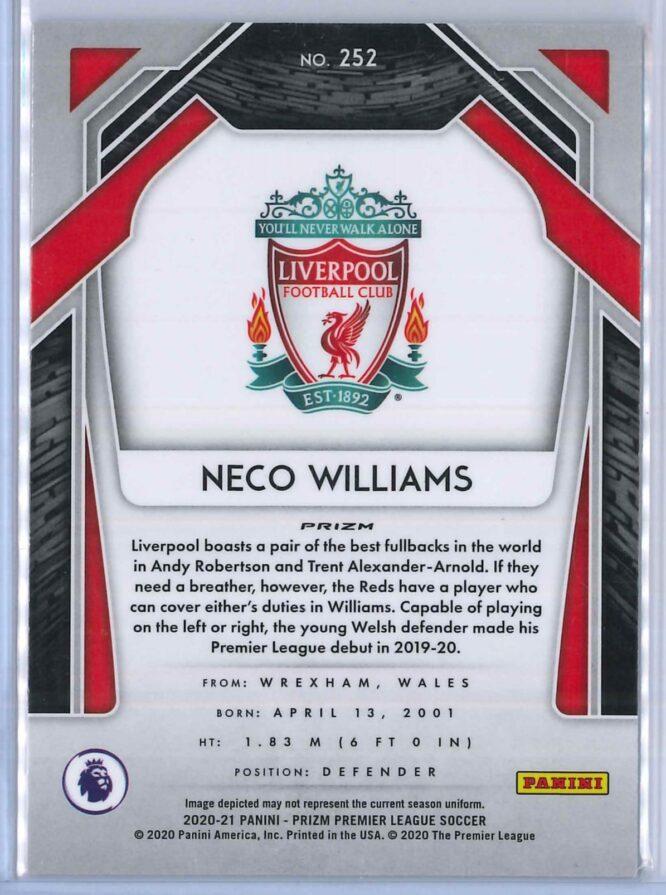 Neco Williams Panini Prizm Premier League Soccer 2020 21 Base Breakaway Prizm RC 2