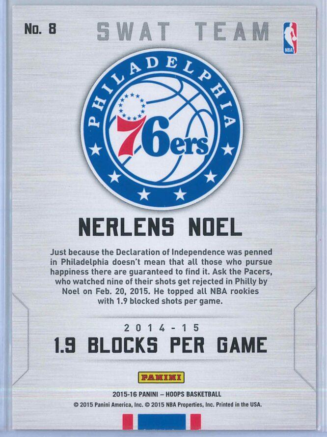 Nerlens Noel Panini NBA Hoops Basketball 2015 16 Swat Team 2