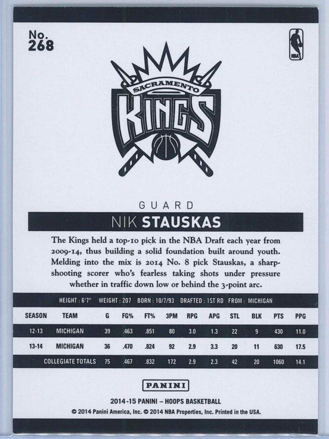Nik Stauskas Panini NBA Hoops Basketball 2014 15 Base Gold RC 2