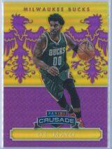 O.J. Mayo Panini Excalibur Basketball 2014 15 Crusade Camouflage Purple 2975 1