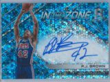 P.J. Brown Panini Spectra 2017 18 In The Zone Neon Blue Auto 4049 1