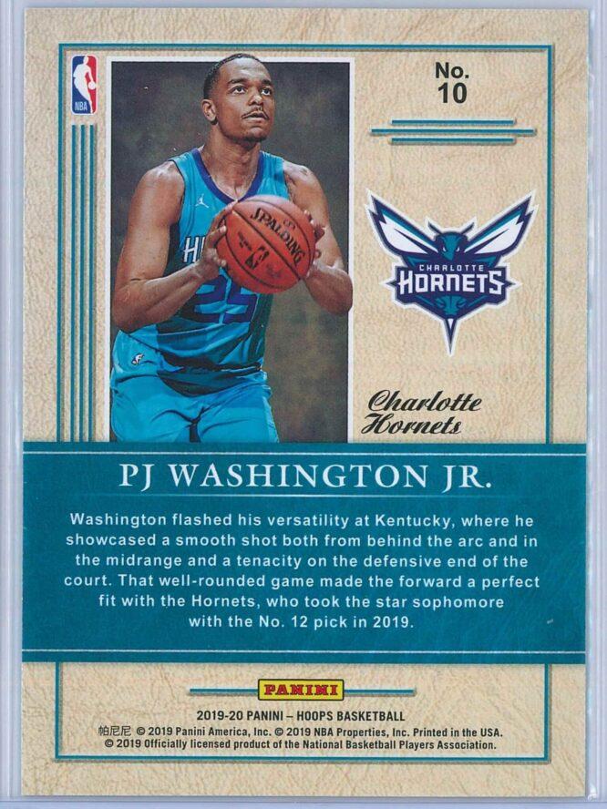 PJ Washington Panini NBA Hoops 2019 20 Class of 2019 2