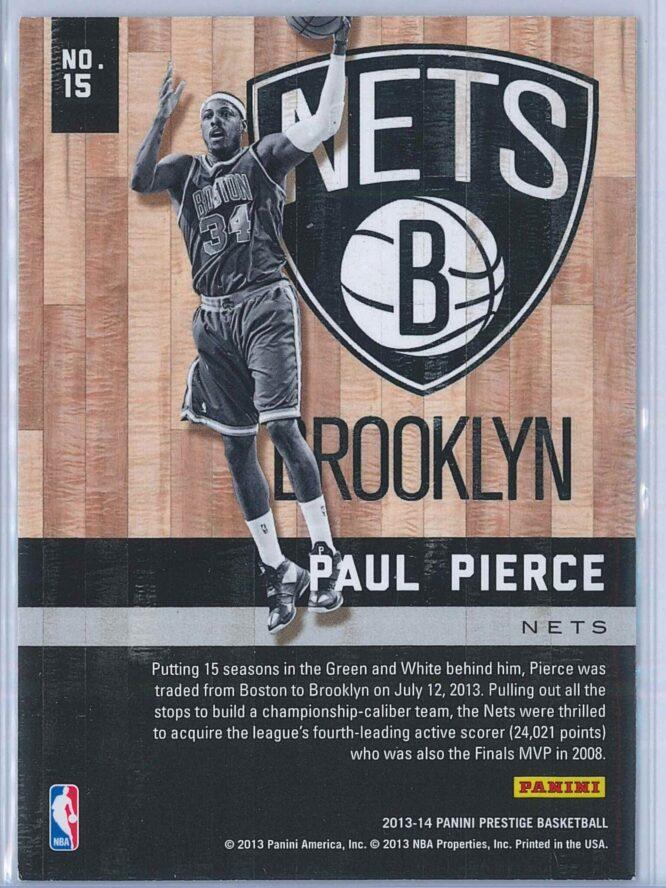 Paul Pierce Panini Prestige Basketball 2013 14 Hardcourt Heroes 2