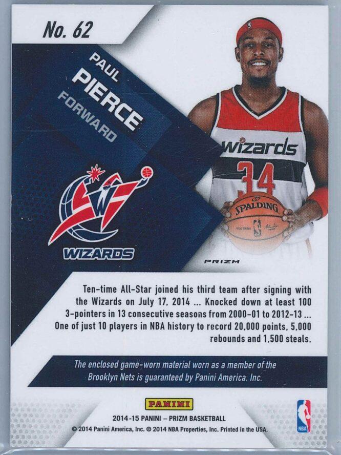 Paul Pierce Panini Prizm Basketball 2014 15 Jerseys Prizms Blue Mojo 2