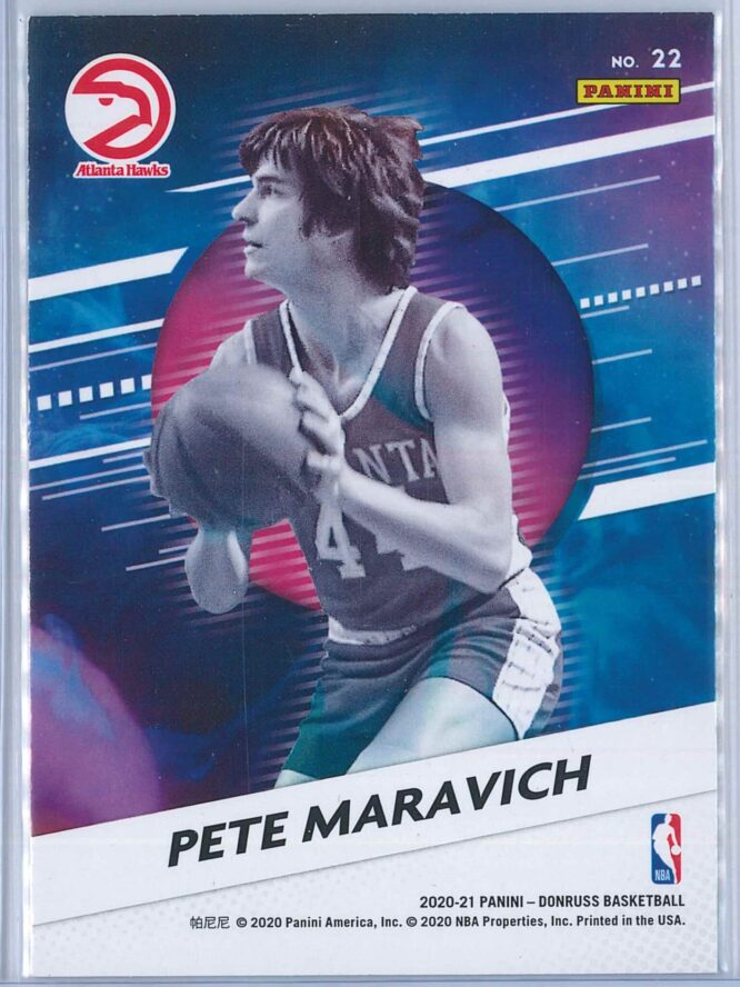 Pete Maravich Panini Donruss Basketball 2020 21 Retro Series 2
