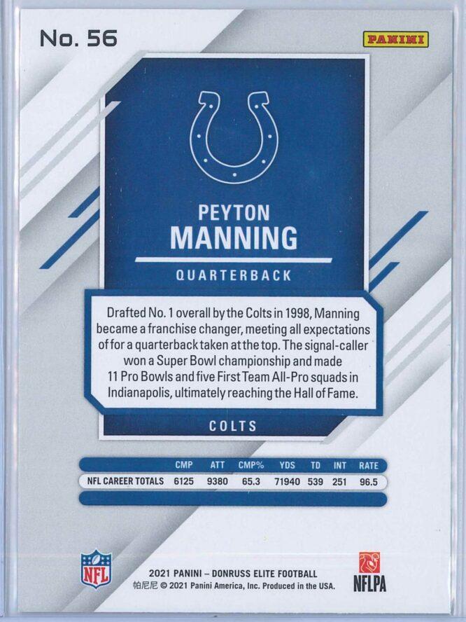 Peyton Manning Panini Donruss Elite Football 2021 Base 2