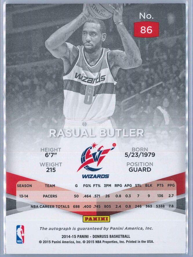 Rasual Butler Panini Elite Basketball 2014 15 083199 Auto 2