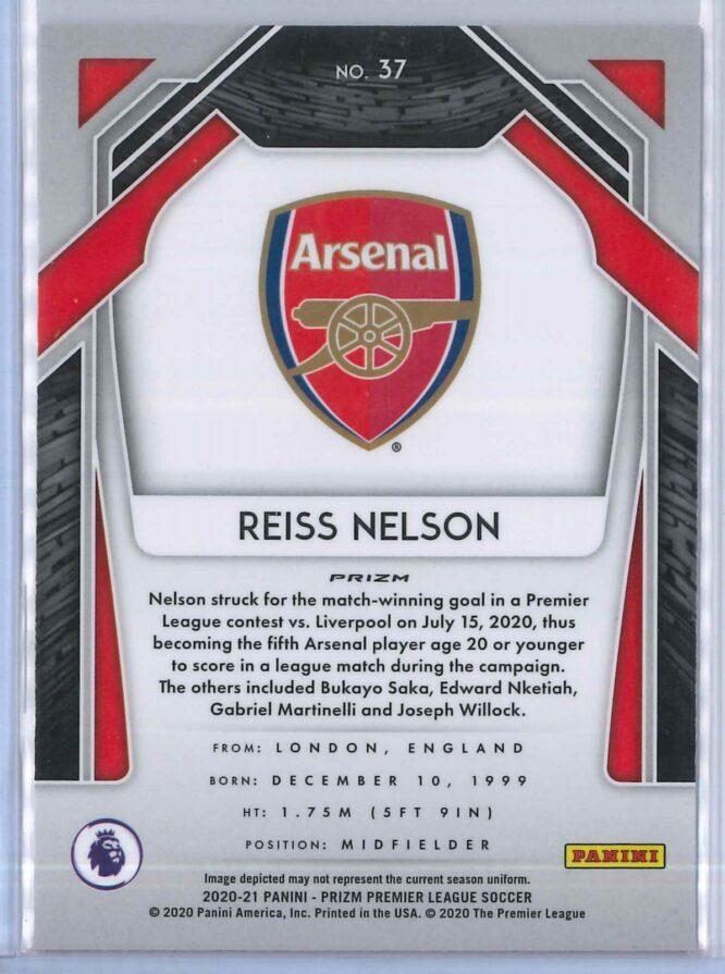Reiss Nelson Panini Prizm Premier League Soccer 2020 21 Base Breakaway Prizm 2