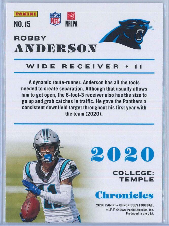 Robby Anderson Panini Chronicles Football 2020 Base 2