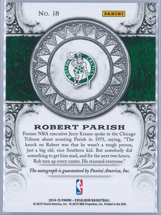 Robert Parish Panini Excalibur Basketball 2014 15 High Praise Auto 2