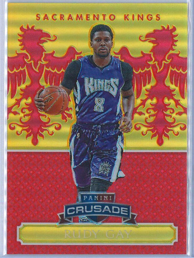 Rudy Gay Panini Excalibur Basketball 2014 15 Crusade Camouflage Red 1799 1